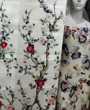 Tafeta Silk Printed