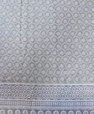 Cotton White w/Embroidery